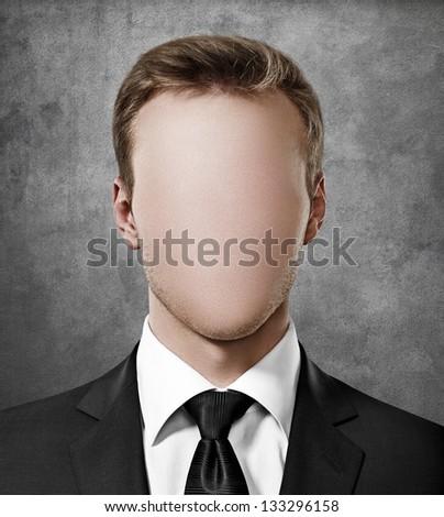 Faceless person portrait - stock photo