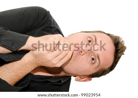 facial expression - stock photo
