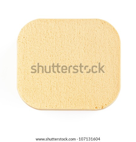 Facial makeup sponge - stock photo