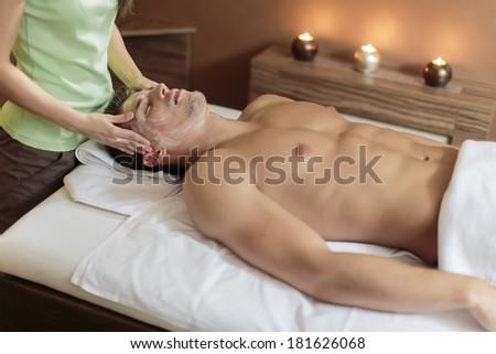 Facial massage - stock photo