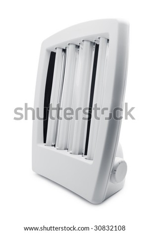 Facial solarium isolated over white background - stock photo