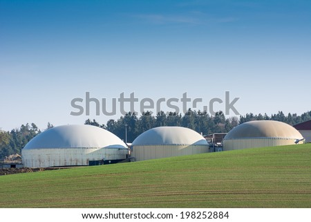 Facility for bio energy production - stock photo