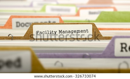 Facility Management Concept. Colored Document Folders Sorted for Catalog. Closeup View. Selective Focus. - stock photo