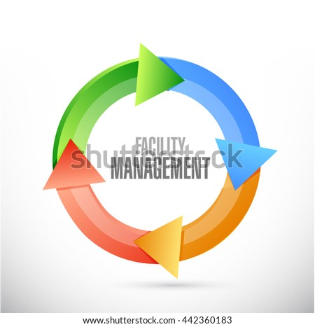 facility management cycle sign illustration design graphic