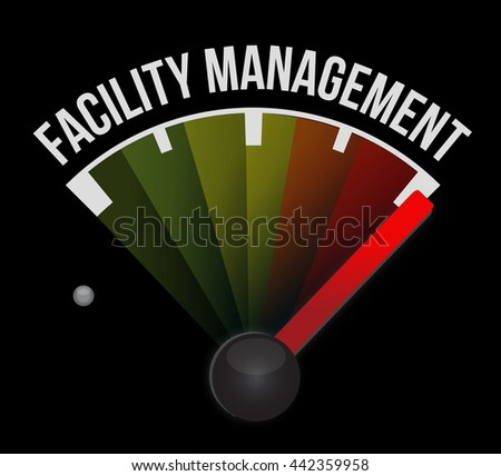 facility management meter sign illustration design graphic - stock photo