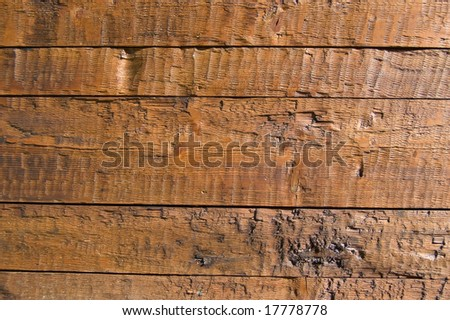 Facing of wooden boards - stock photo