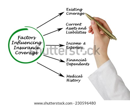 Factors Influencing Insurance Coverage - stock photo
