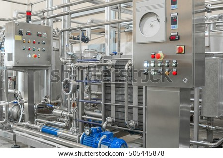 Factory and industrial production plant for the manufacture of beverages