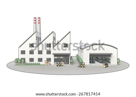 Factory and warehouse - stock photo