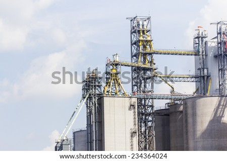 factory : cement factory  - stock photo