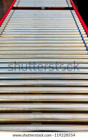 Factory Conveyor Belt Track - stock photo