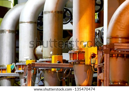 Factory equipment. Pipeline of a high pressure.