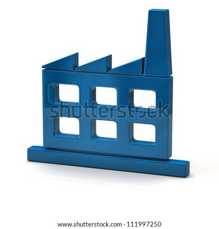 Factory icon - stock photo