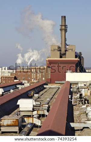 Factory in downtown of Indianapolis, Indiana. - stock photo