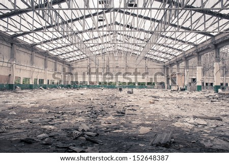 factory is to be demolished