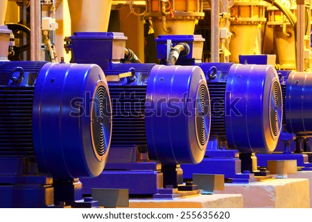 Factory motor machine equipment.Industrial business and technologies. - stock photo