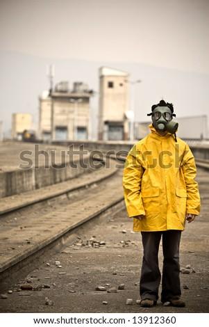 Factory worker standing still - stock photo