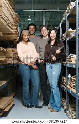 Factory workers - stock photo