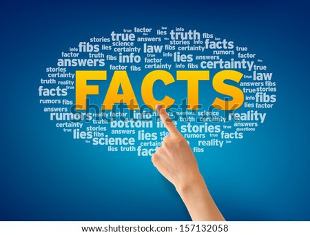 Facts - stock photo