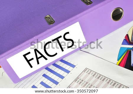 FACTS  folder on a market report