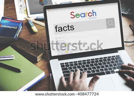Facts Information Point Certainty Details Factor Concept - stock photo