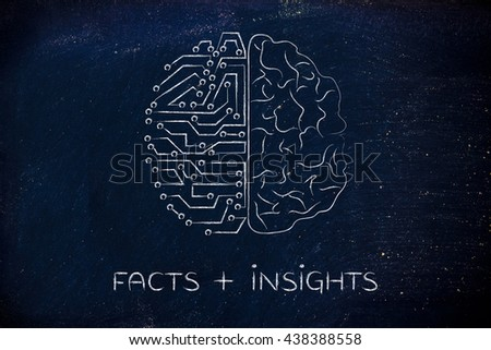 facts plus insights: artificial intelligence and human brain comparison design