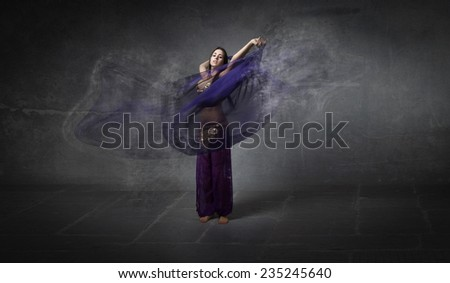 fade effect on belly dancer veil - stock photo
