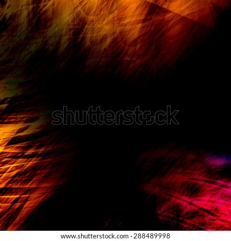Faded color image. Background texture design. Empty art illustration. Old grungy picture effect. Abstract computer rendering. Paint brush strokes. Retro poster idea. Banner graphic for text. Fantasy. - stock photo