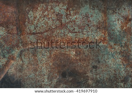 Faded peeled worn rusty metal texture.  - stock photo