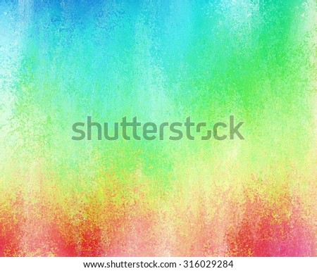 faded rainbow colors, grunge textured background - stock photo