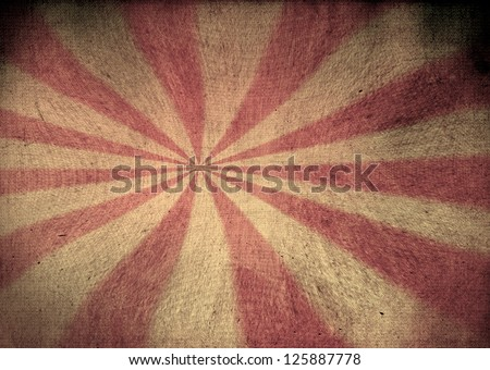 Faded red and yellow grunge starburst - stock photo