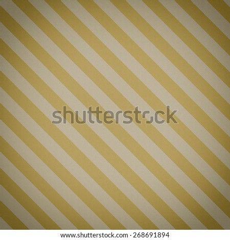 faded vintage yellow and beige striped background,  with noisy distressed texture with white center spot, vignette - stock photo
