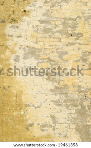 Faded Yellow Brick Wall