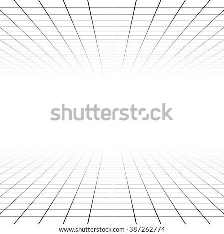 Fading and vanishing grid, mesh 3d abstract background - stock photo