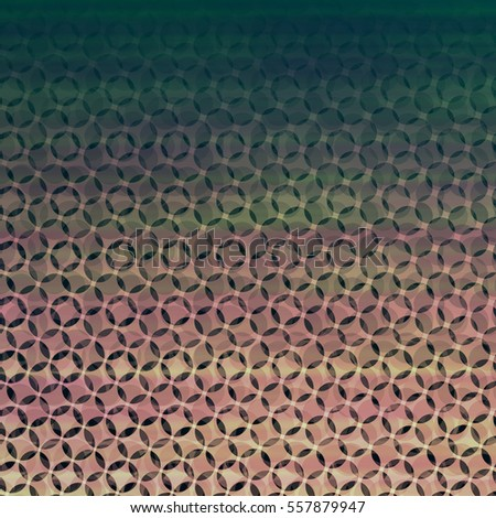 Fading Vintage Halftone Circle Texture Backdrop with Pinkish Orange Blending Into Cool Green - High resolution illustration for graphic design or background use.