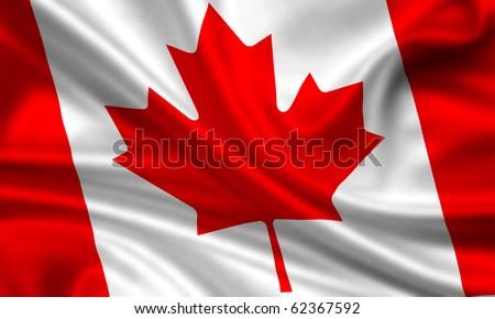 Fahne Flagge Kanada - stock photo