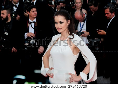Fahriye Evcen attends the 'Carol' premiere during the 68th annual Cannes Film Festival on May 17, 2015 in Cannes, France. - stock photo