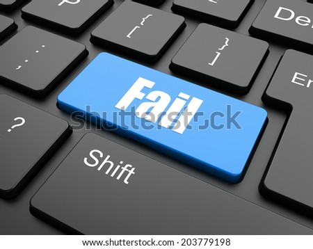 fail concept with word on keyboard keys - stock photo