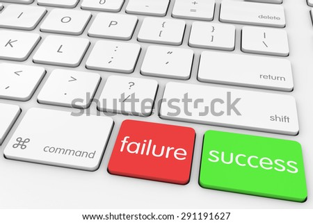 Failure and Success Buttons on White Computer Keyboard