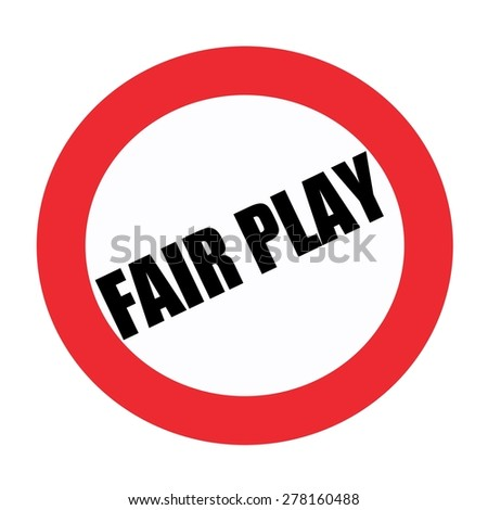 Fair play black stamp text on white - stock photo