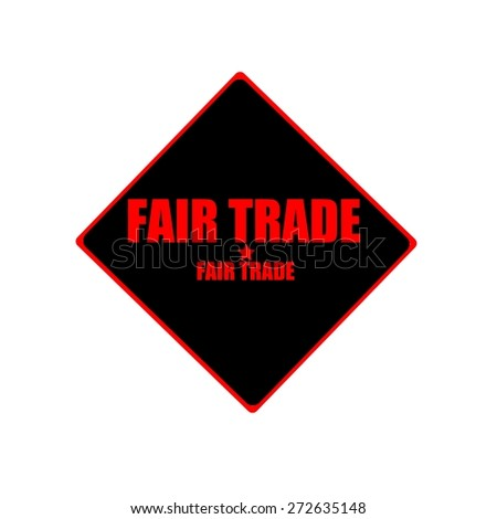 Fair Trade red stamp text on black background - stock photo