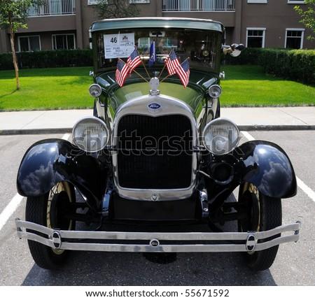 FAIRBANKS, AK - JUNE 19: 1929 Ford Model A 2010 Alaska Midnight Sun Cruise-In Auto Show June 19, 2010 in Fairbanks, Alaska - stock photo