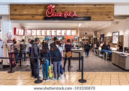Fairfax Usa February 18 2017 Chickfila Stock Photo 593330870