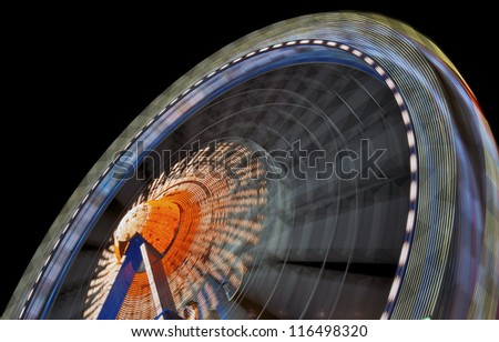 fairground ride at the oktoberfest in munich - germany - stock photo