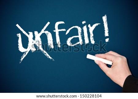 Fairness - stock photo