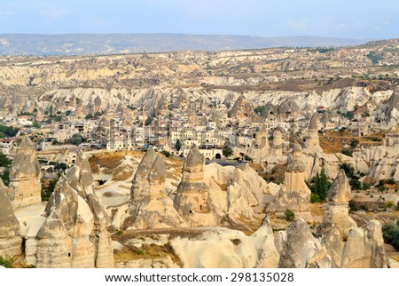 Fairy Chimney in Goreme Nevsehir Turkey - stock photo