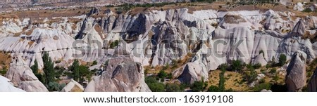 Fairy Chimneys rock formation nearby G�¶reme, in Cappadocia Turkey
