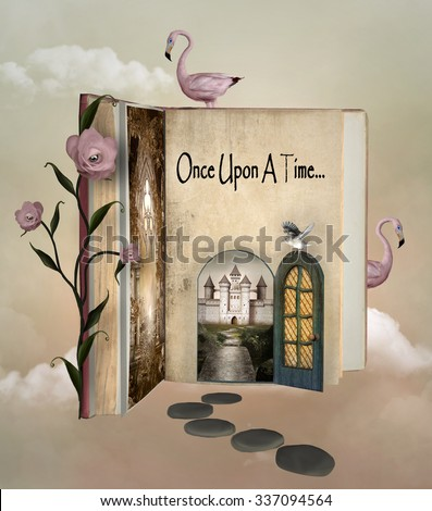Fairy tale book - stock photo