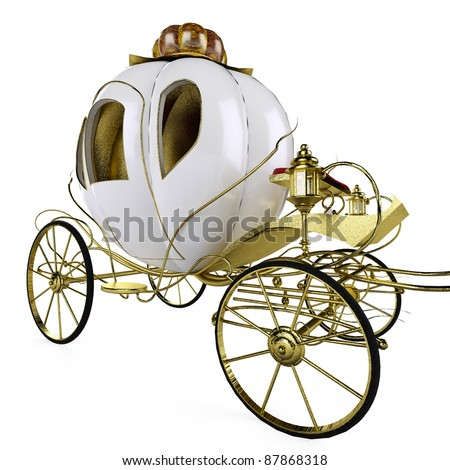 fairy tale carriage nice angle - stock photo