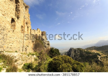 Fairy Tale Castle of Hilarion in Northern Cyprus
